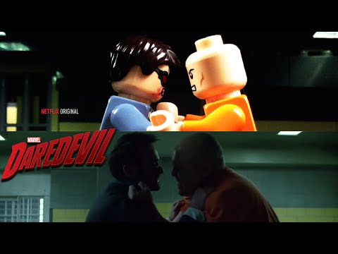 DareDevil Season 2: Murdock Visits Fisk In Prison IN LEGO (Side by Side Comparison)