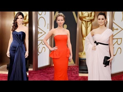 Jennifer Lawrence, Penelope Cruz, Sandra Bullock Look Stunning At Oscars 2014 Red Carpet
