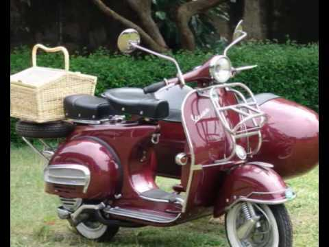 Vespa Scooter VBB maroon 3
