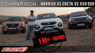 2019 Tata Harrier vs Hyundai Creta vs Mahindra XUV500 Comparison | Hindi | MotorOctane