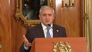 Dokunulmazlığı Kaldırılan Guatemala Devlet Başkanı Molina Istifa Etti
