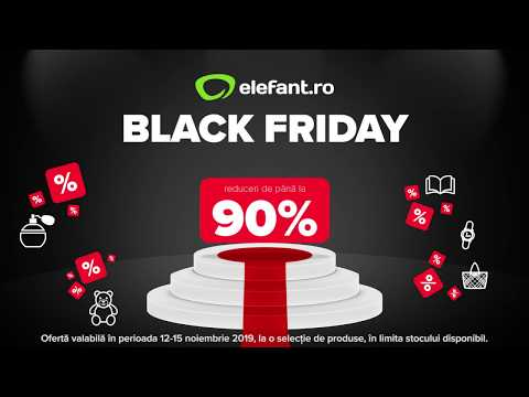 Black Friday la elefant.ro - 16:9