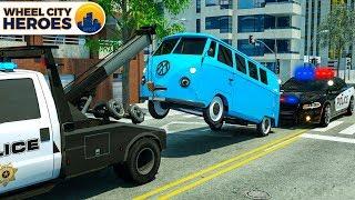 Wrecker Truck Evacuating Van - Wheel City Heroes (WCH) - Police Car Cartoon
