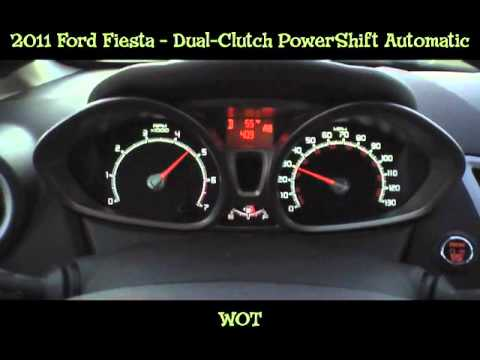 2011 Ford Fiesta Dual-Clutch Automatic - Shift Points