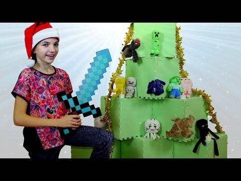 Новогодняя елка #Майнкрафт с лучшей подружкой Светой. Новогоднее видео для детей.