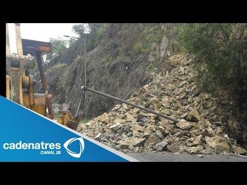 Impresionantes imágenes del derrumbe en la México- Pachuca (VIDEO)