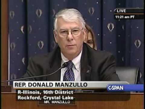 Rep. Manzullo Questions Bailout Czar Neel Kashkari