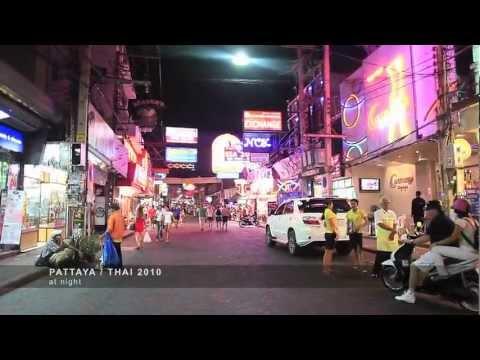 Tour of Pattaya Thailand at Night - Beach, Walking St, Nightlife, Bars, Girls