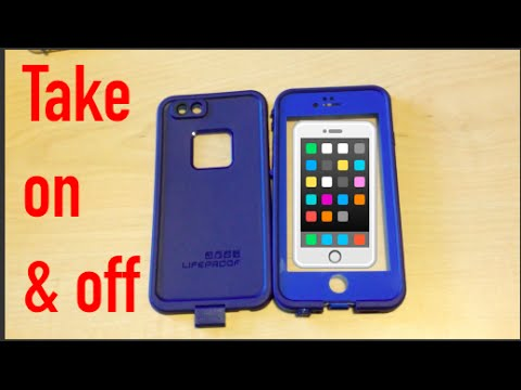 HOW TO PUT ON & TAKE OFF LIFEPROOF CASE!