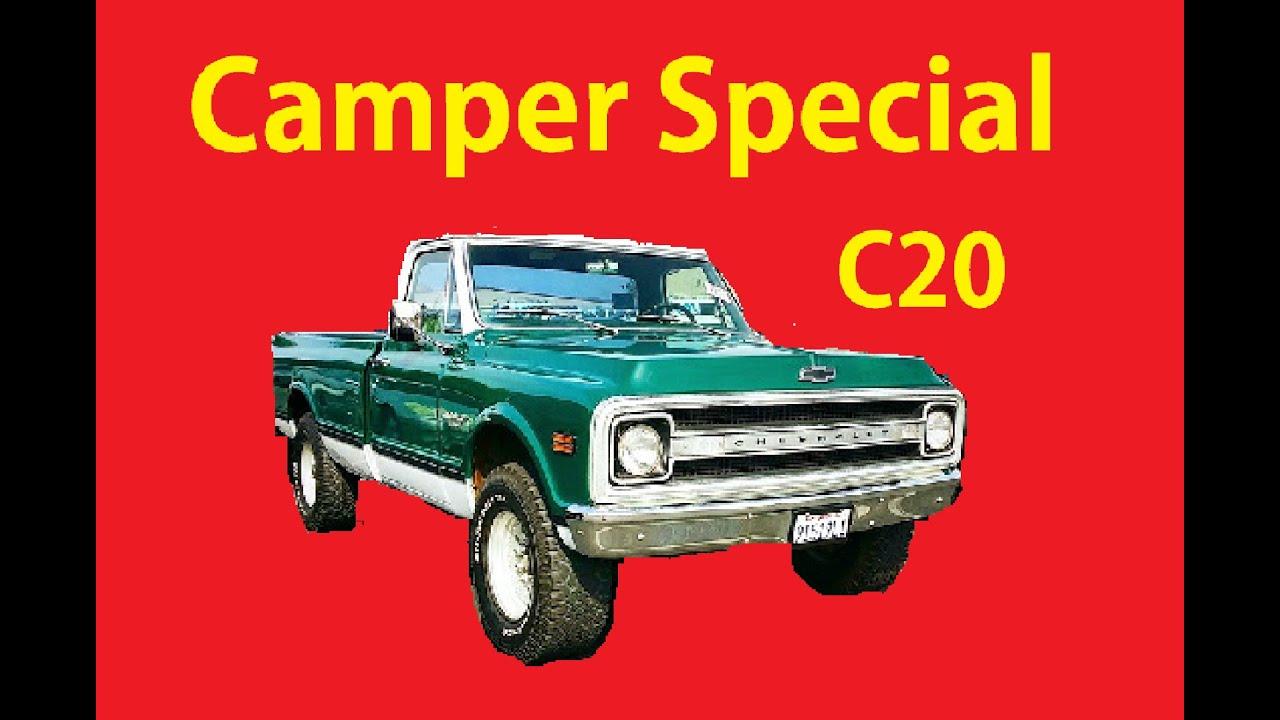 Classic C20 69 Chevrolet C/K Camper Special Video GMC ...