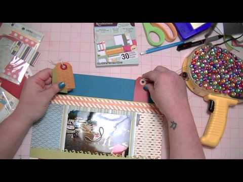 "Scrapbooking Process Video from Start to Finish - ""Down by the Shore"""