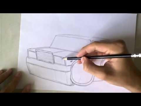 Видео как нарисовать машину Жигули
