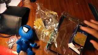 Mở hộp đèn h4 bi cầu - nhện trang trí xe và khung biển số titan