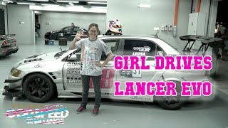 GIRL DRIVES LANCER EVO FAST | Laptimes