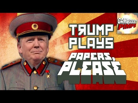 Donald Trump Plays Papers Please Let S Play Gameplay Day One Walkthrough