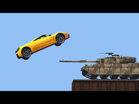 SUPER CAR vs. TANK?! (GTA 5 Funny Moments)