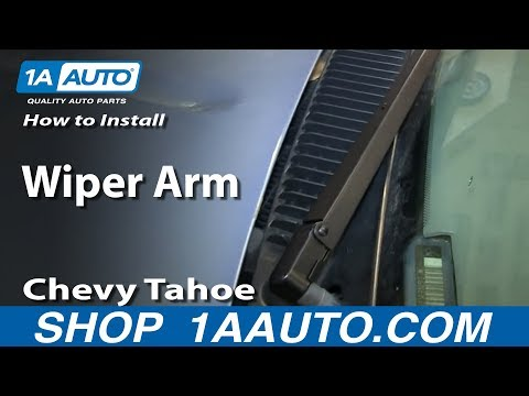 How To Install Remove Wiper Arm 1994-99 Chevy Tahoe Suburban GMC Yukon