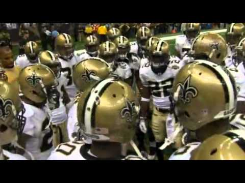 2010 Saints Pregame Huddle Chant