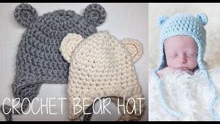 HOW TO CROCHET A BEAR HAT