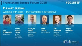 #2018TEF - DAY 1 - Working with data – the translator's perspective