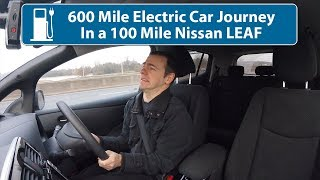 600 Mile Electric Car Journey In a 100 Mile Nissan Leaf! (& Snow!)