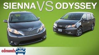 Honda Odyssey vs Toyota Sienna | Edmunds A-Rated Minivans Face Off