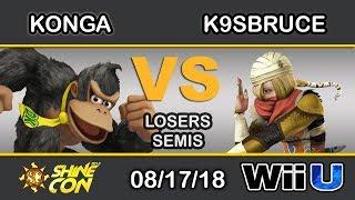 Shine Con 2018 - KoL | Konga (Donkey Kong) Vs. tR | K9sBruce (Sheik) Losers Semi - Smash 4