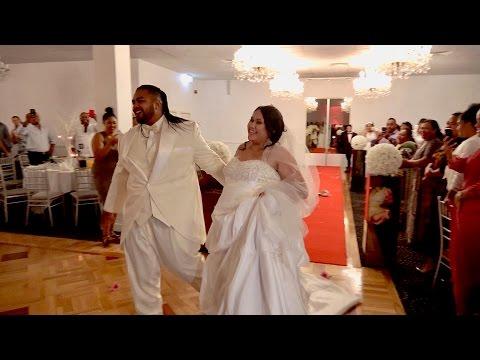 Wedding party entrance of Tongan Groom & Beautiful Samoan Bride newlyweds Mr & Mrs Charles & Madylaine Tu'ipulotu. Diamond Paradiso Wedding Reception Celebration. Liverpool, Sydney, Australia....