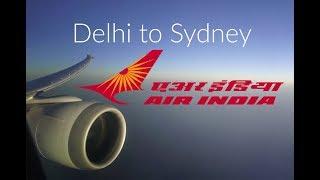 Air India Business Class Delhi to Sydney. सिडनी के लिए एयर इंडिया बिजनेस क्लास