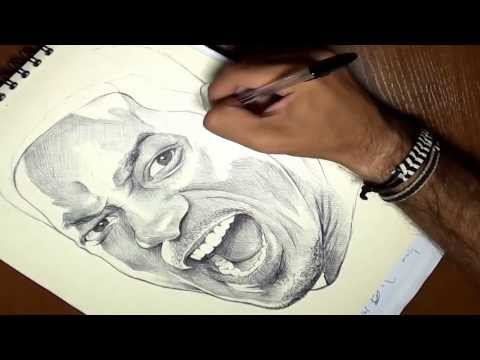 Cómo dibujar a Will Smith en 3 minutos timelapse (How to draw Will Smith in 3 m