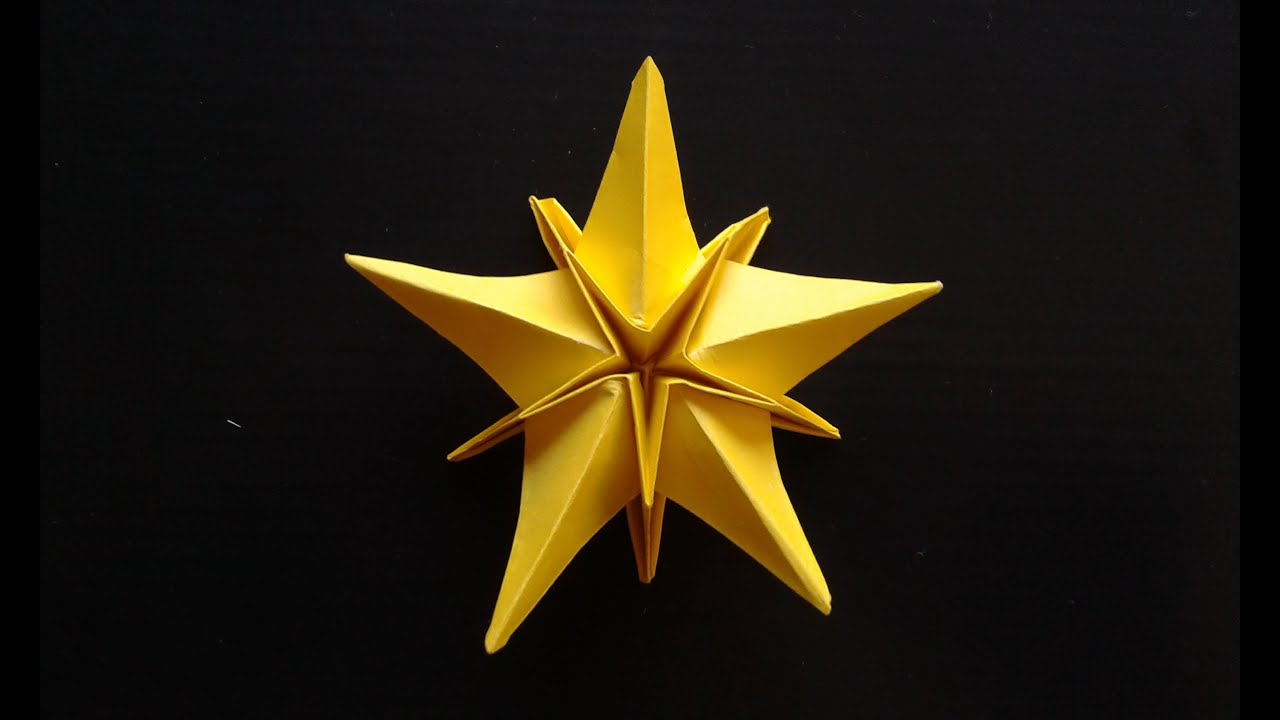 how to make a origami christmas star
