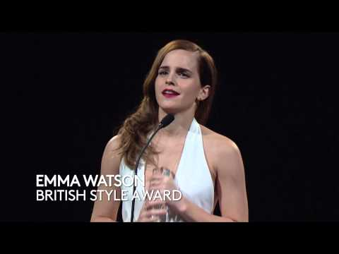 Emma Watson - British Style Award - British Fashion Awards 2014