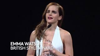 Emma Watson - British Style Award - British Fashion Awards 2014