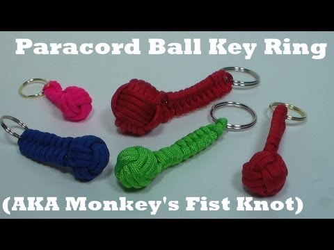 monkeys fist knot keyring