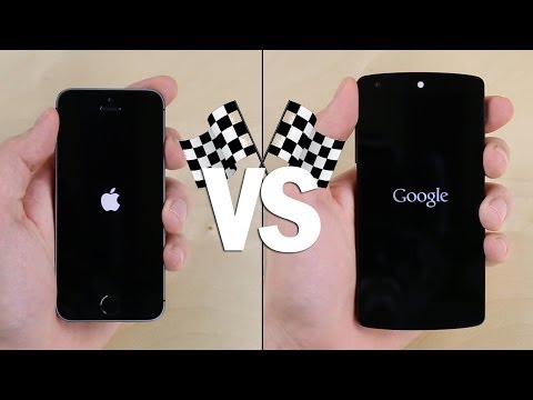 Nexus 5 vs. iPhone 5S Speed Test