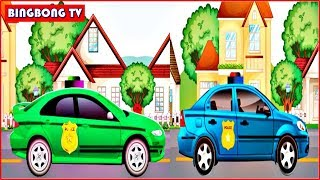 Police Car Cartoon | Game Police Car For Kids | Video For Childrens | BingBong TV