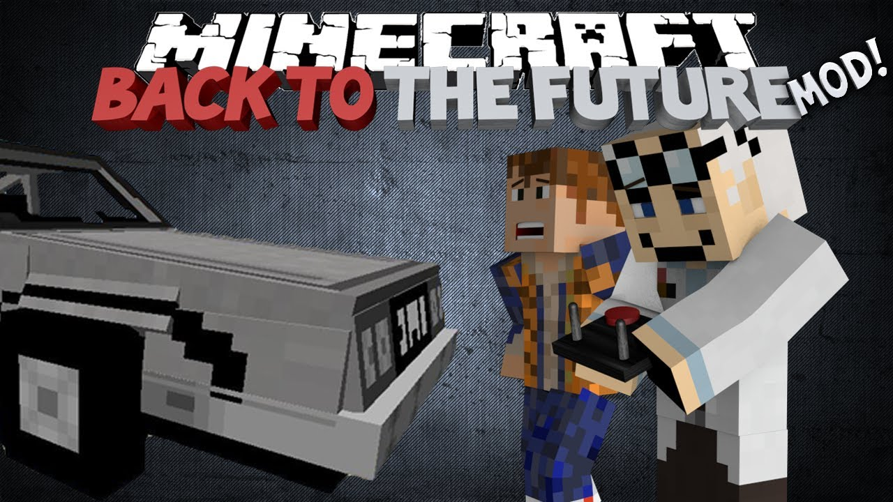minecraft back to the future mod delorian hoverboards