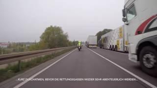 Einsatzfahrt zum Vku BAB 2 Gefahrgut // HORROR Rettungsgasse (17.10.16)