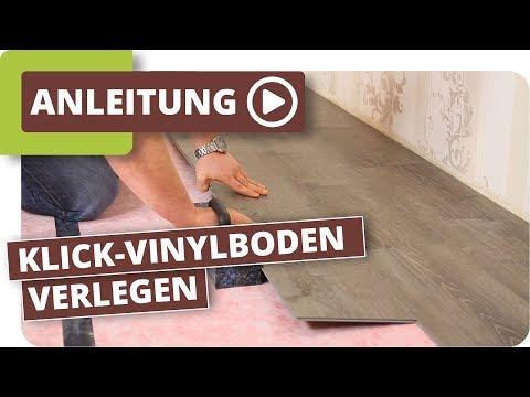 vinyl klick boden verlegen. Black Bedroom Furniture Sets. Home Design Ideas