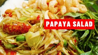 Lao Food Festival 2015 - Making Papaya Salad