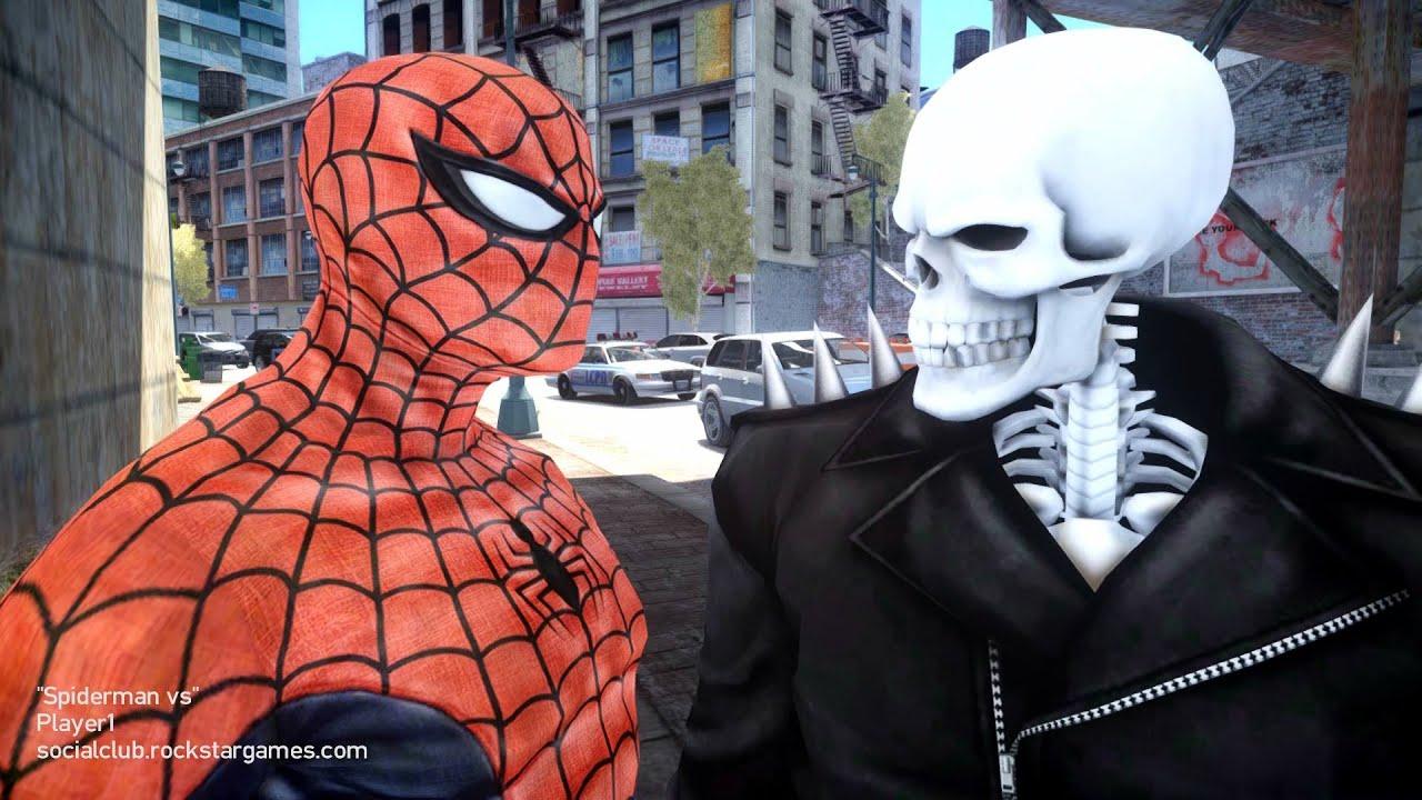 Ghost Rider vs Flash Spiderman vs Ghost Rider