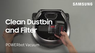 03. How to clean the Dustbin and Filter on your POWERbot vacuum | Samsung US
