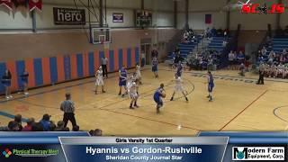 BASKETBALL ALL QUATERS - Gordon Rushville vs Hyannis - FREAM Sports