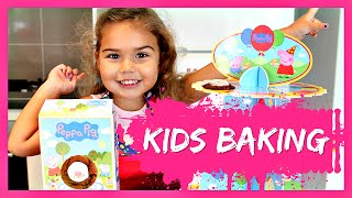 Kids Baking PEPPA PIG COOKIES