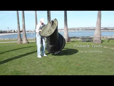 Pinnacle Tents Brand Pop Up Tent Folding Video