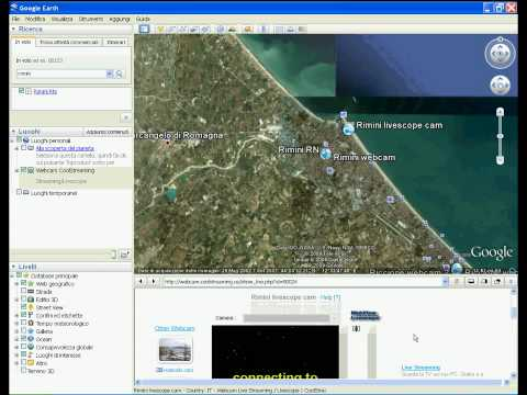 Webcam Streaming/Livescope on Google Earth by CoolStreaming