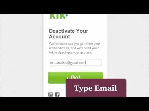 How to delete | deactivate kik account permanently