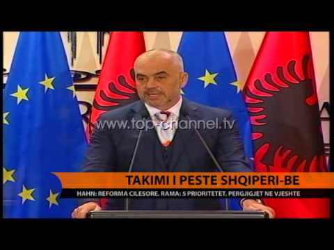 Takimi i pestë Shqipëri-BE - Top Channel Albania - News - Lajme
