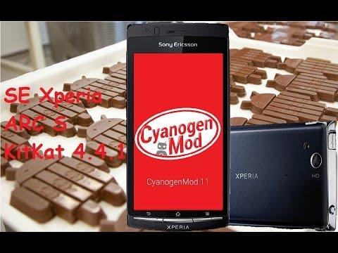 Sony Xperia Arc S LT18i - KitKat 4.4.1 Cyanogenmod 11 beta version