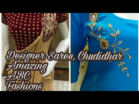 Latest Designer Saree| Chudidhar Neckline Collections